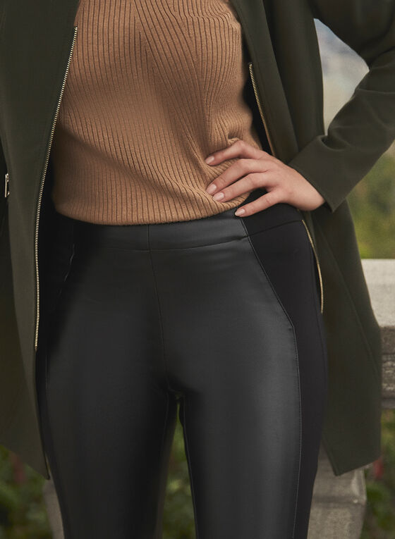 Kayla Vegan Leather Leggings, Black