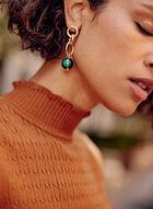 Marble Bead Earrings, Green