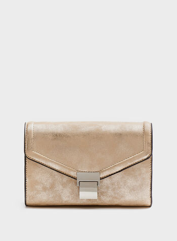Distressed Finish Envelope Clutch, Pink, hi-res