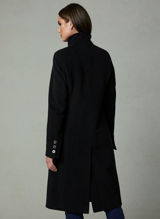 Manteau en cachemire à col montant , Noir