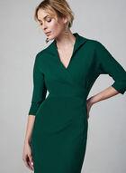 Maggy London - Robe cache-coeur plissée, Vert, hi-res