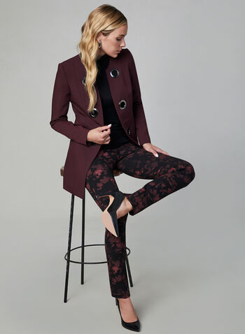Madison Floral Print Pants, Black,  slim leg, slim fit, pull-on, high rise, floral print, fall 2019, winter 2019
