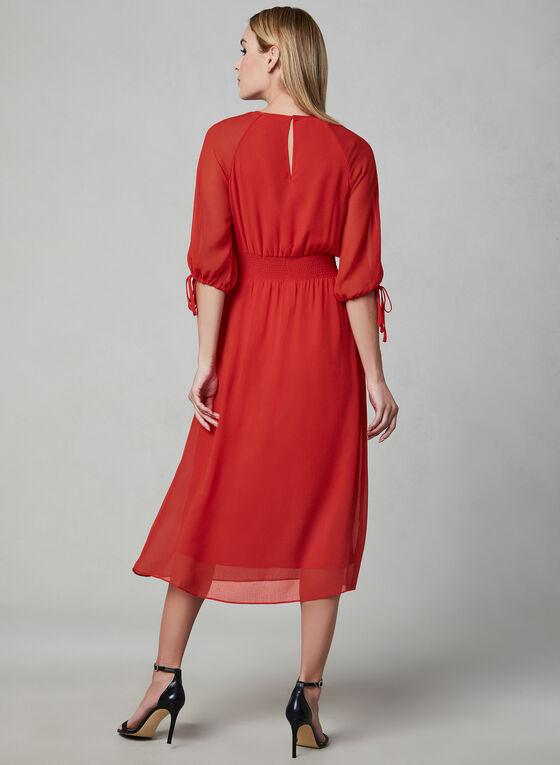 Maggy London - Robe à manches ballon en mousseline, Rouge, hi-res