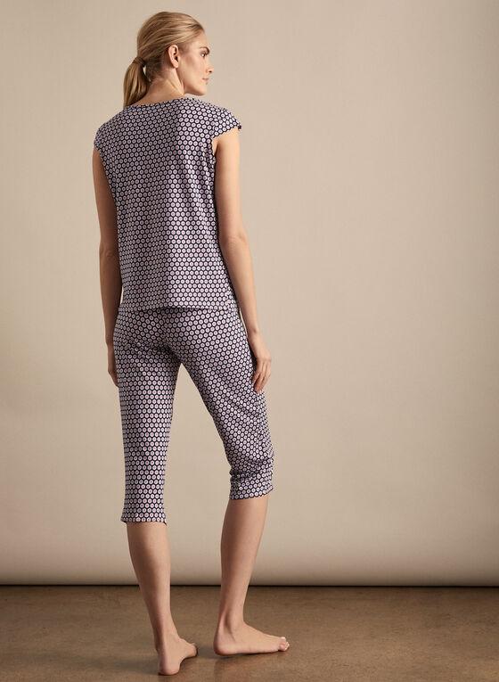 Hamilton - Polka Dot Print Pyjama Set, Blue