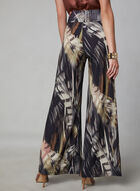 Compli K - Feather Print Wide Leg Pants, Black