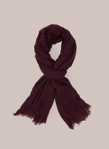 Wrinkle Effect Lightweight Scarf, Red,  scarf, lightweight, wrinkled, chiffon, fall winter 2020