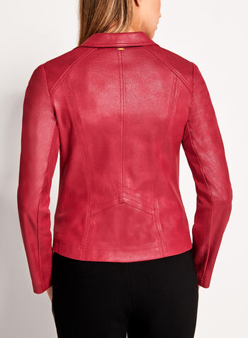 Vex - Metallic Trim Faux Leather Jacket, , hi-res