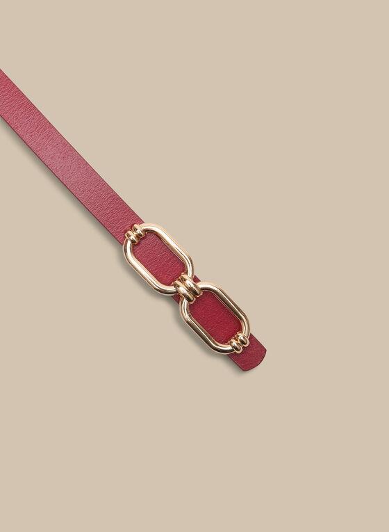 Metallic Buckle Belt, Pink