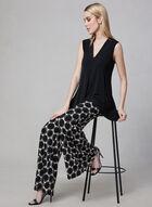 Joseph Ribkoff - Geometric Print Wide Leg Pants, Black, hi-res