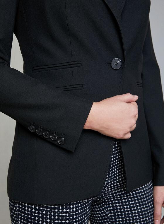 Veste à col cranté, Noir, hi-res