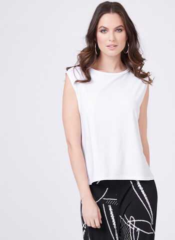 Clara Sunwoo - Sleeveless Crew Neck Top , White, hi-res