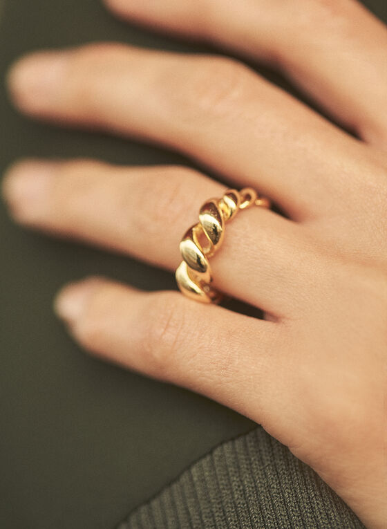 Graduated Twisted Ring, Gold