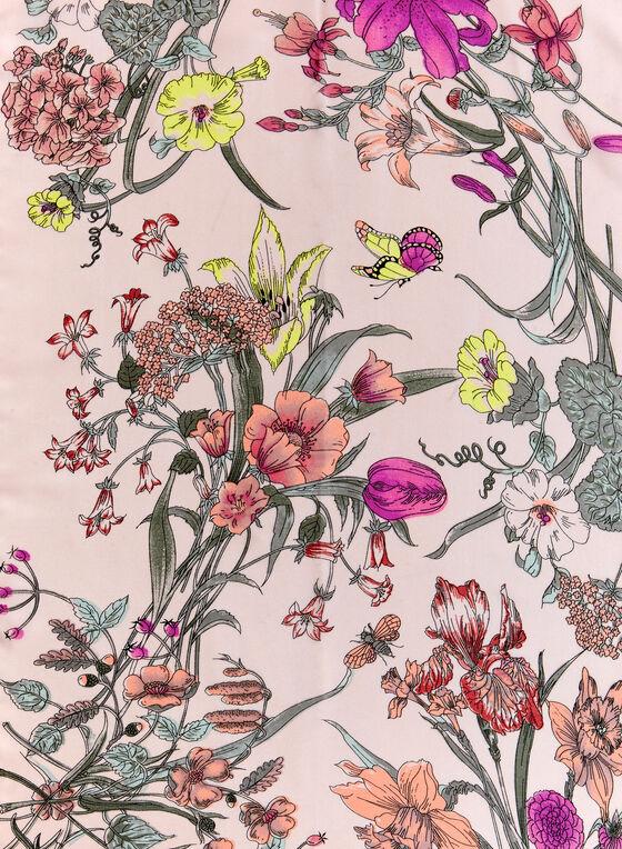 Foulard oblong fleurs des champs, Rose, hi-res