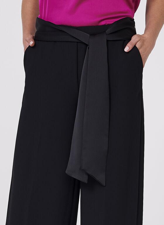 Wide Leg Crepe Pants, Black, hi-res