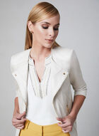 Embroidered Cleo Neck Top, Off White, hi-res
