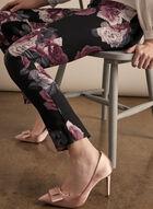 Joseph Ribkoff - Slim Floral Print Pants, Purple