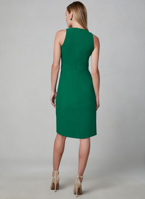 Kensie - Asymmetric Faux Wrap Dress, Green