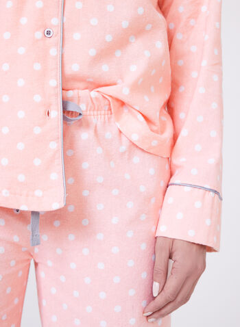 Dot Print Pajama Set , Pink, hi-res