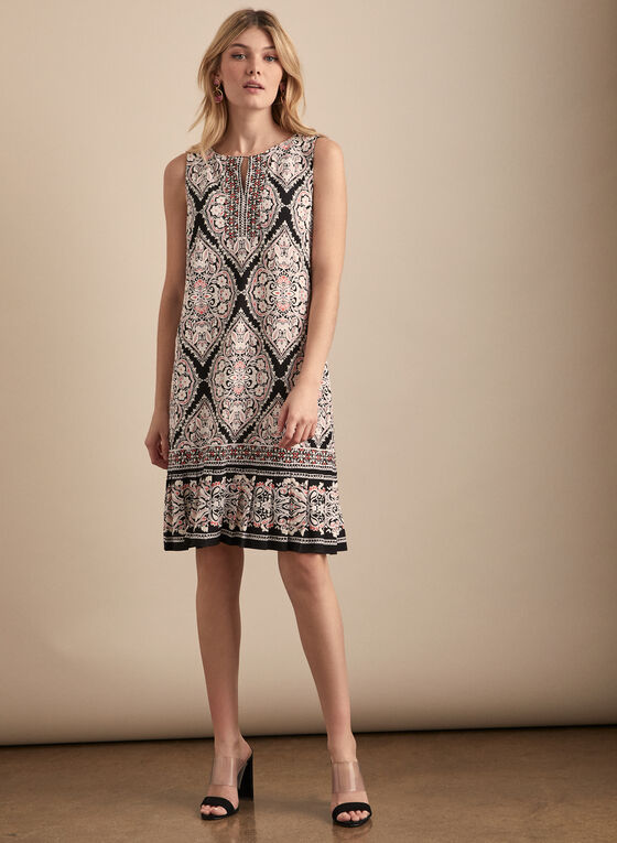 Sandra Darren - Mosaic Print Dress, Black