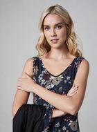 Floral Robe & Nightgown, Black, hi-res