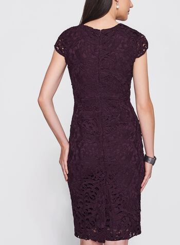 Jax - Scroll Lace Sheath Dress, Red, hi-res
