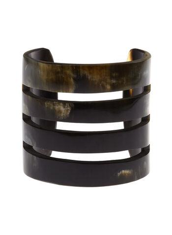 Horn Cuff Bracelet , Off White, hi-res
