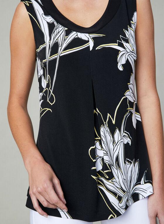 Frank Lyman - Floral Print Top, Black