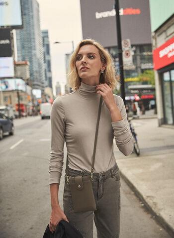 Haut à col roulé en tricot côtelé, Blanc cassé,  haut, pull, col roulé, manches longues, tricot côtelé, automne hiver 2021, basique