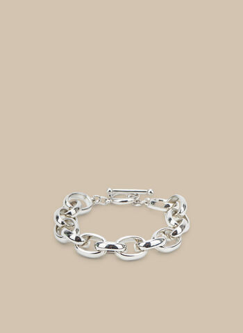 Ring Link Bracelet, Silver,  bracelet, metallic bracelet, metallic, ring link bracelet, spring 2020, summer 2020