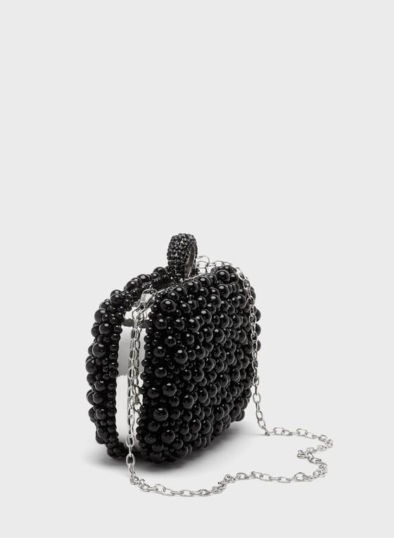 Pearl Clutch, Black, hi-res