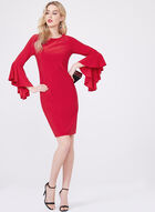 Frank Lyman - Ruffle Sleeve Sheath Dress, Red, hi-res