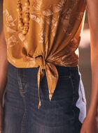 Tie Detail Sleeveless Top, Yellow
