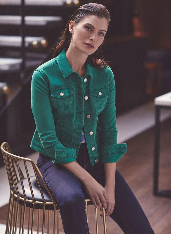 Veste en jean coloré, Vert