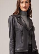 Vex - Faux Leather Zipper Detail Jacket, Black