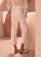 Frayed Hem Gaucho Jeans, White