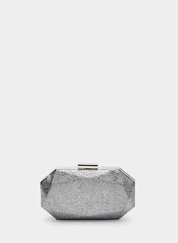 Geometric Clutch, Silver, hi-res