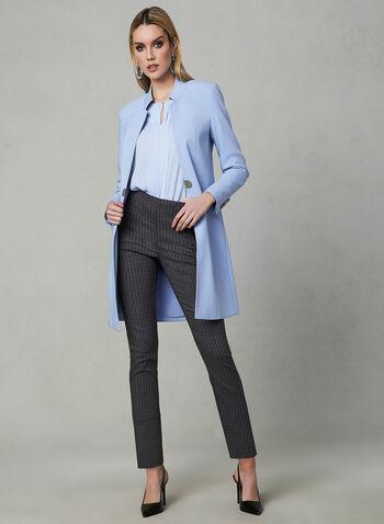 Pantalon pull-on à imprimé abstrait, Bleu, hi-res,