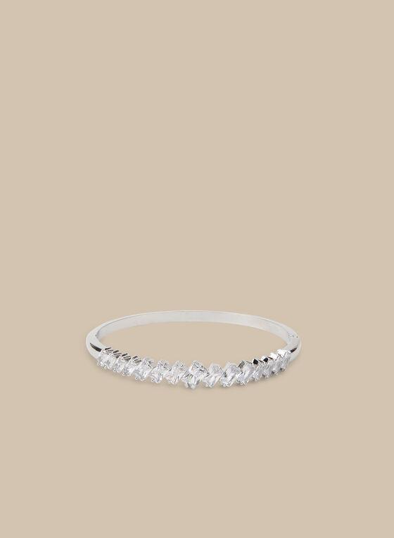 Bracelet rigide à cristaux, Argent