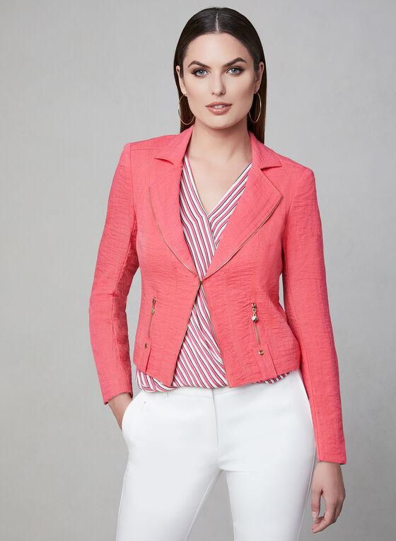 Vex - Zipper Trim Jacket, Pink, hi-res
