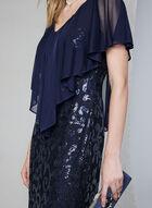 Marina - Sequin Lace Popover Dress, Blue, hi-res