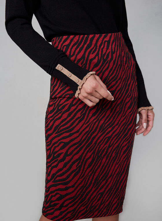 Zebra Print Pencil Skirt