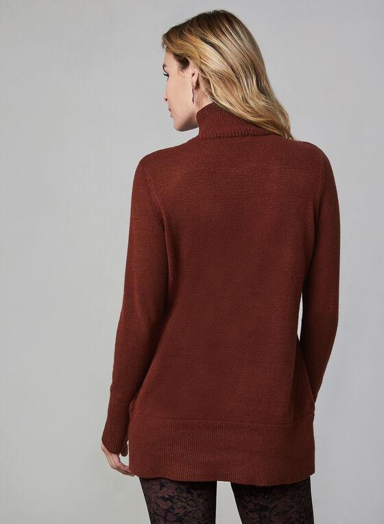 Mock Neck Sweater, Red, hi-res