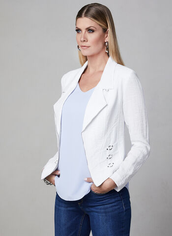 Vex - Open Front Jacket, White, hi-res