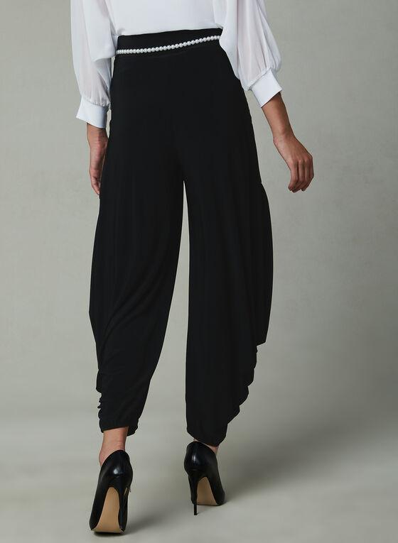 Joseph Ribkoff – Pearl Belt Harem Pants, Black, hi-res
