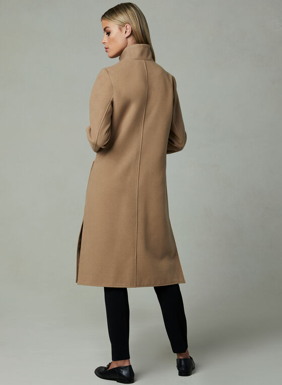 Faux Wool Transition Coat, Brown, hi-res
