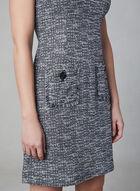 Karl Lagerfeld Paris - Robe en tweed à poches, Noir, hi-res