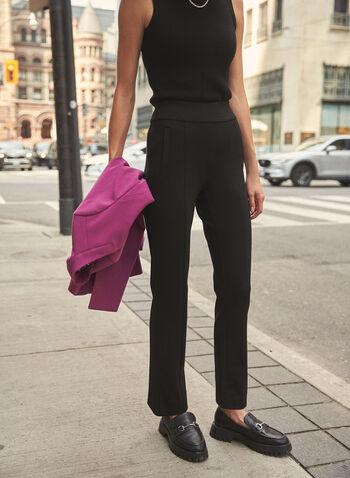 Pantalon Madison à jambe étroite, Noir,  pantalon, bas, madison, taille haute, jambe étroite, à enfiler, pull-on, poches passepoilées, automne hiver 2021