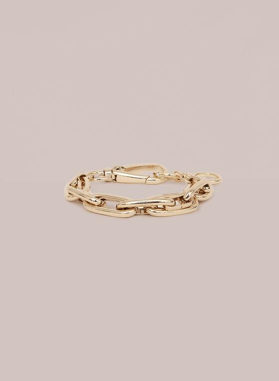 Oval Link Chain Bracelet, Gold