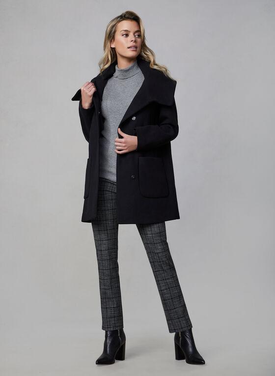 Marcona - Manteau en fausse laine   , Noir