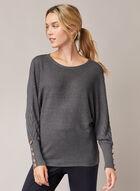 Dolman Sleeve Sweater, Grey